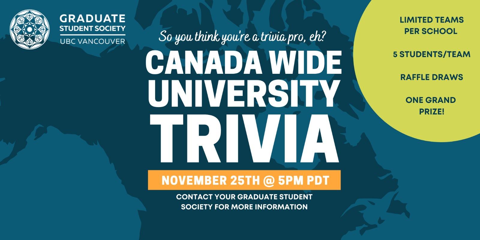 Canada wide trivia